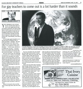 Community Herald Gay Teachers